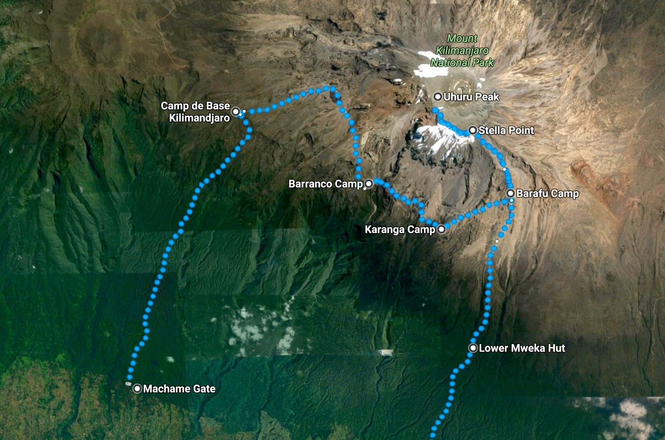 Camps Machame Route