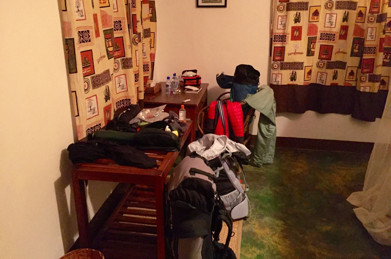 Luggage for climbing Mount Kilimanjaro