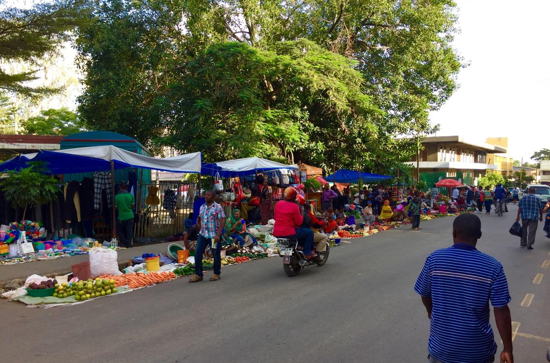 Stadtbild von Arusha