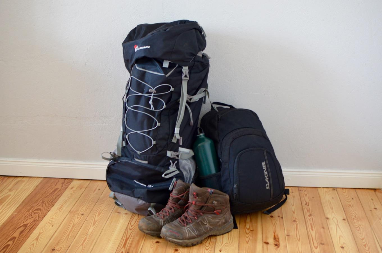 Packed backpacks