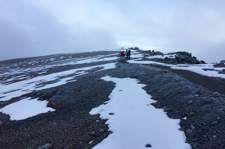 Letzte Meter Aufstieg zum Uhuru Peak