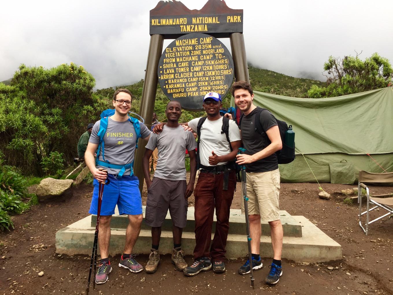 Arrivée au Machame Camp en fin d'après-midi