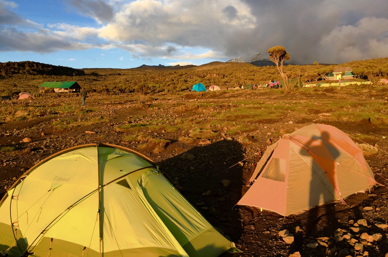 Coucher de soleil au camp Shira