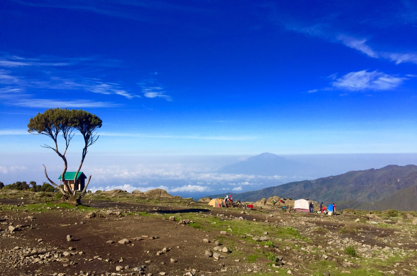 View from Kilimanjaro towards Tanzania