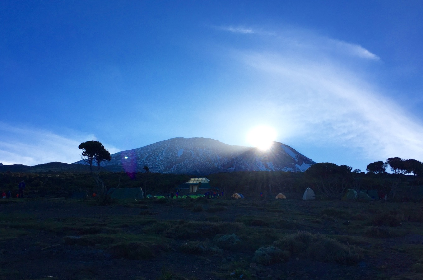 Sunrise at Kilimanjaro with view on Kibo