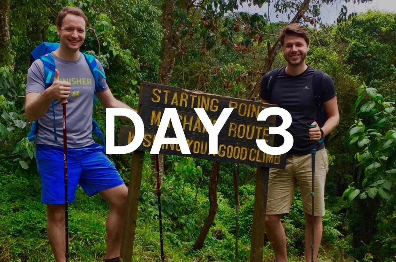 Start of climbing Mount Kilimanjaro via Machame Route