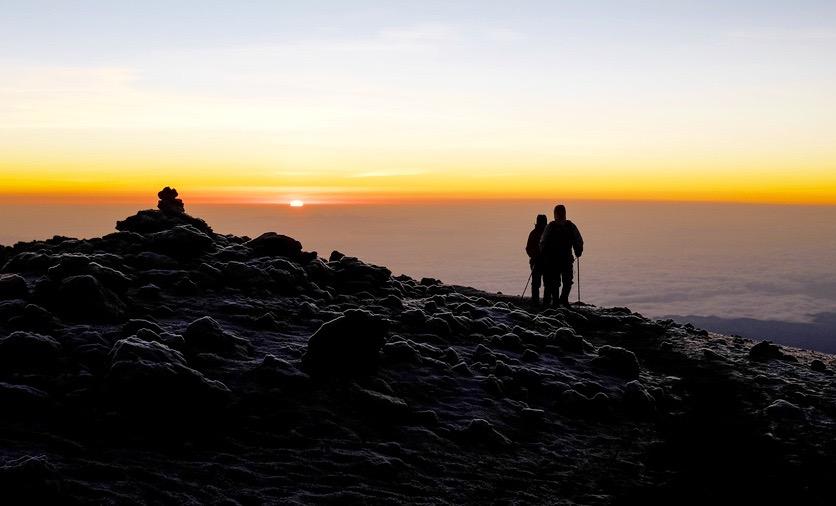 Sonnenaufgang auf dem Dach von Afrika
