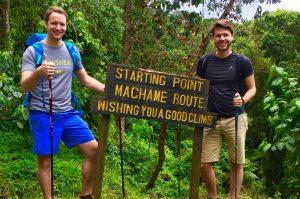 Startpunkt der Machame Route