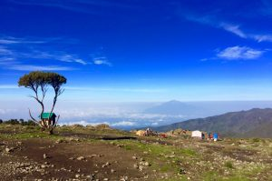 View from Kilimanjaro to Mount Meru