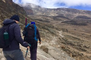 Hike through the stone desert at Kilimanjaro