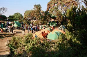 Camp sur le mont Kilimandjaro
