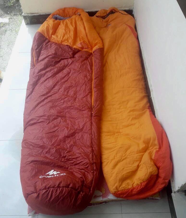 Ascension du Kilimandjaro, sacs de couchage