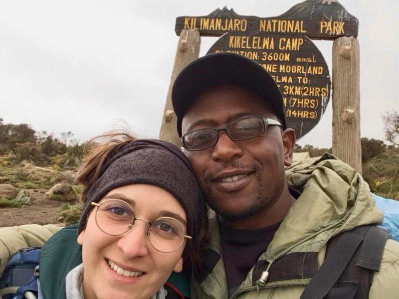 Im Camp am Kilimandscharo auf dem Weg zum Gipfel