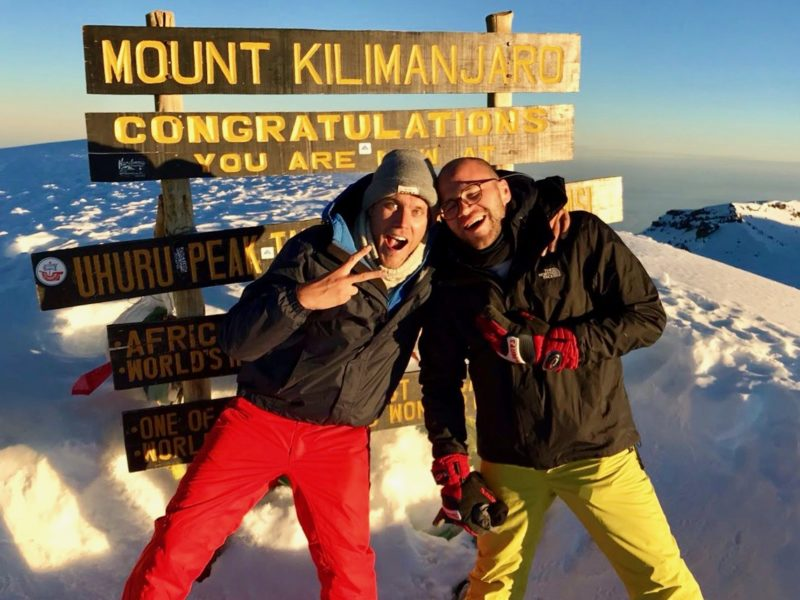 Successful ascent of Uhuru Peak, the summit of Kilimanjaro in Tanzania