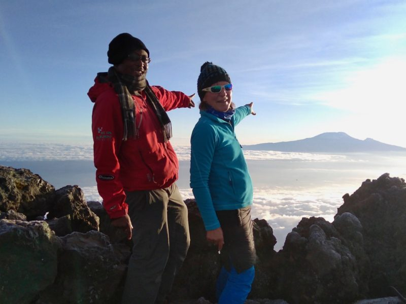 Successful ascent of Mount Merus, the little brother of Kilimanjaro