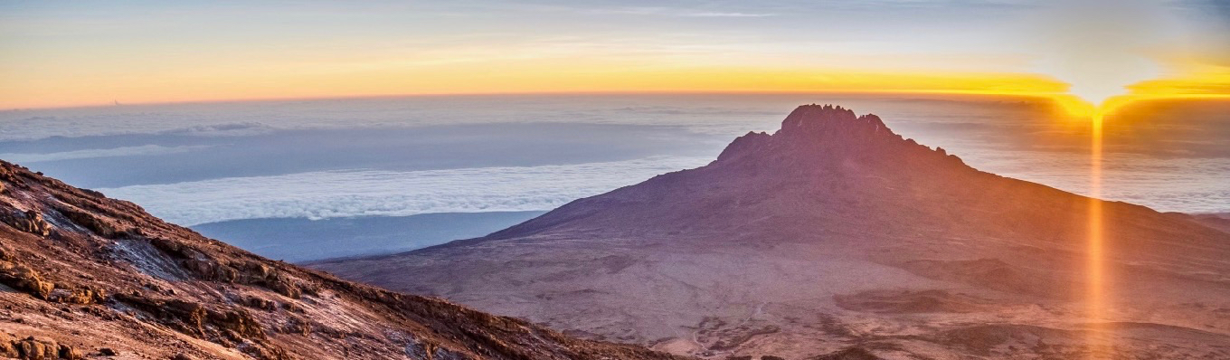 View from Uhuru Peak at sunrise
