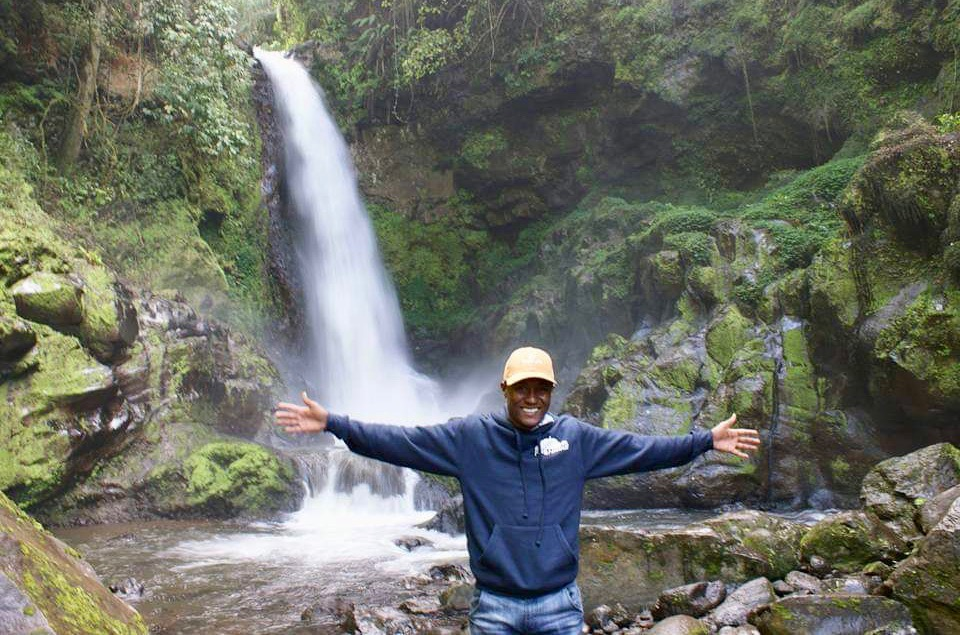 Waterfall in Kilimanjaro National Park