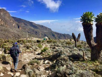 Blick ins Land von der Machame Route