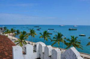 Blick auf den Hafen von Stone Town, die Hauptstadt von Sansibar