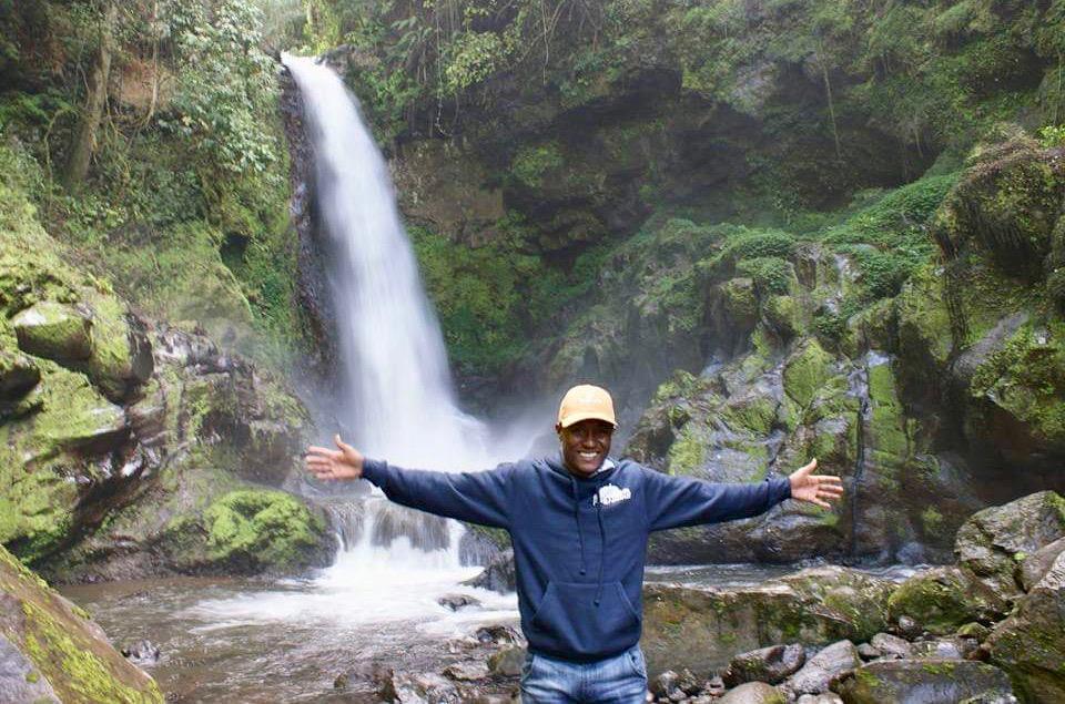 Wasserfall im Kilimandscharo Nationalpark