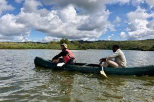Canoeing on Momella Lake