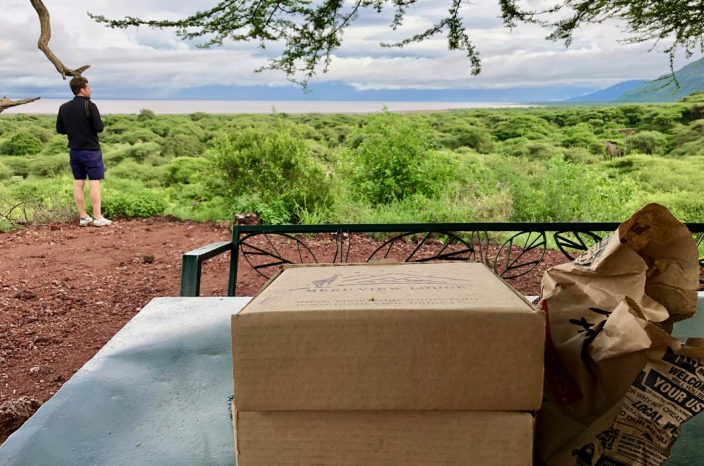 Lunch break with view over Lake Manyara
