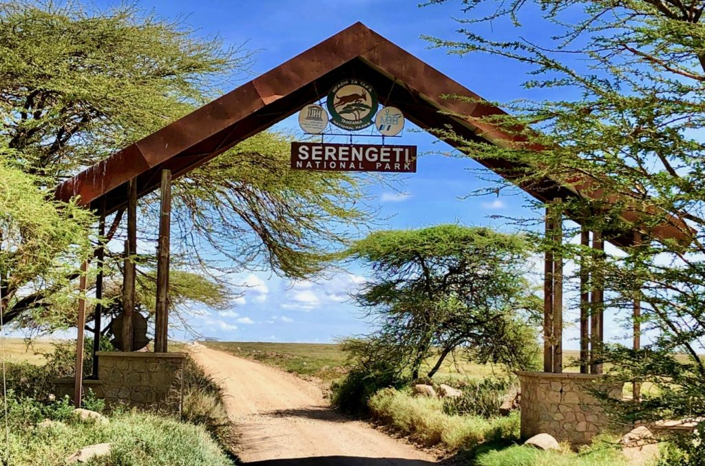 Entrance gate to the Serengeti National Park