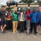 A group of mountaineers before climbing Mount Meru