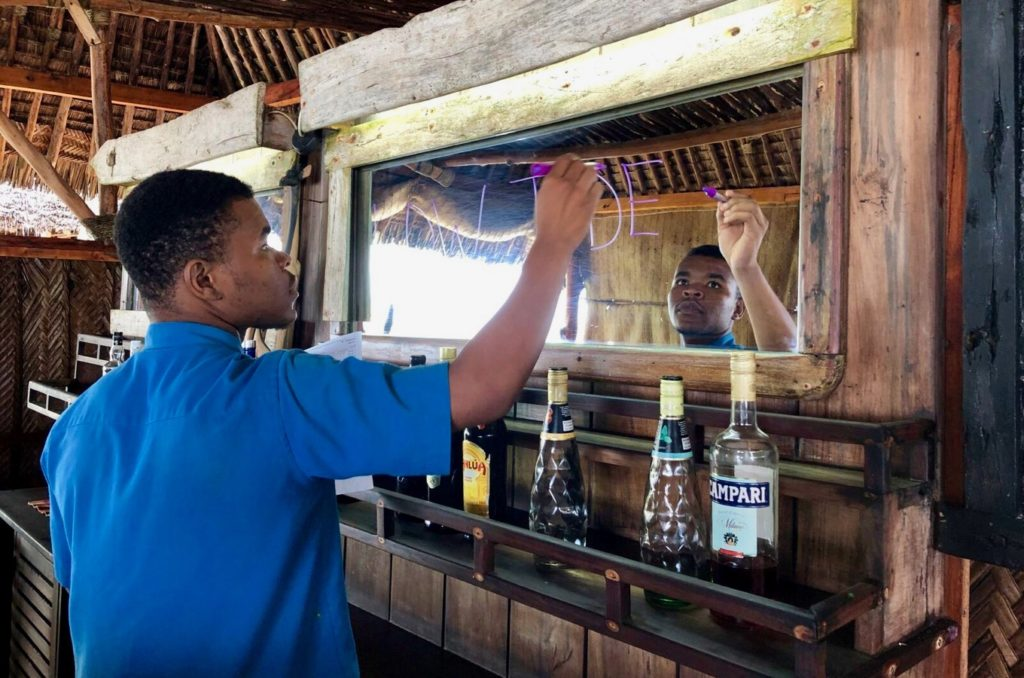Bar at Tides Lodge at Ushongo Beach in Pangani