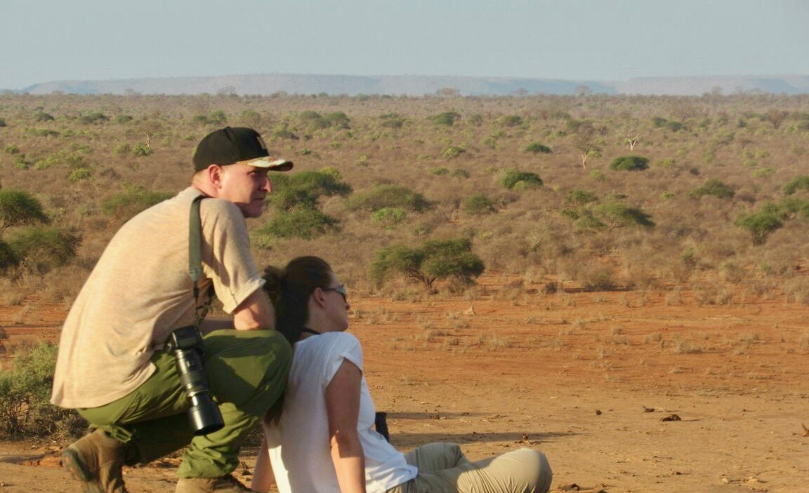 Ilona and Leif in the savannah of Africa